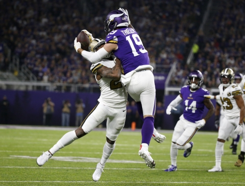 Adam Thielen has a chance to tie Calvin Johnson's record against the Lions