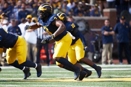 Michigan football's Rashan Gary, Tarik Black in uniform vs. Penn State