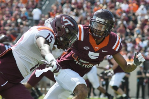 Virginia Tech starting DB Bryce Watts injured in first quarter against Boston College