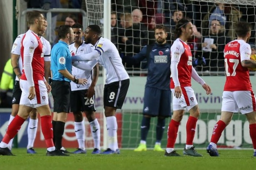 Graham Potter unhappy with Rotherham penalty decisions but says Swansea City have only themselves to blame