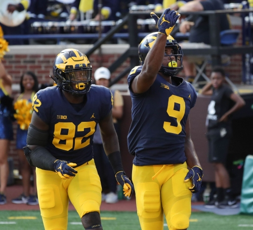 Michigan's Donovan Peoples-Jones mimics Saquon Barkley after TD catch