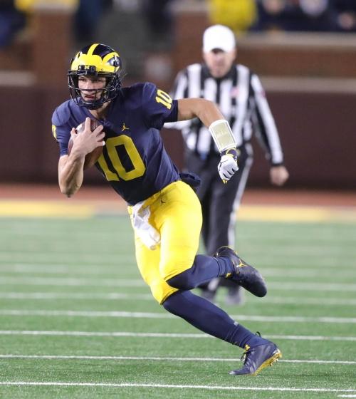 Michigan football QB Dylan McCaffrey breaks collarbone vs. Penn State