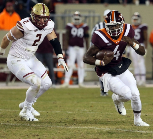 Why Virginia Tech played QB Quincy Patterson in fourth quarter against Boston College
