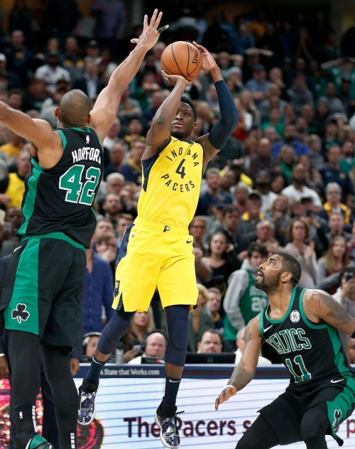 Pacers pull off dramatic upset of Celtics behind heroics from Victor Oladipo down the stretch