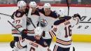 Brodziak scores twice as Oilers down Red Wings