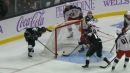 Zach Werenski bails out Sergei Bobrovsky with stellar save