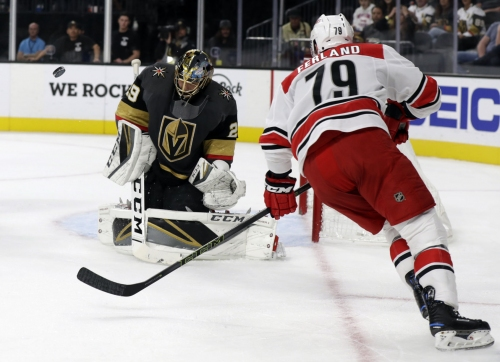 Fleury earns 50th career shutout, Vegas blanks Carolina 3-0