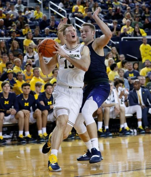 Michigan's Ignas Brazdeikis makes most of starting chance in exhibition