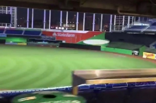 Marlins Park home run sculpture fully removed from original location