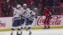 Lightning tie game late after Senators' Borowiecki can't clear puck