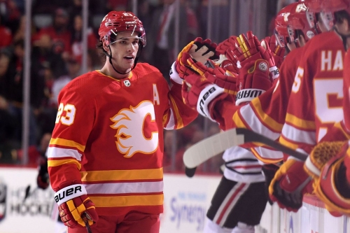 Sean Monahan Named NHL's First Star of the Week