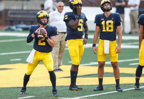 Michigan's Brandon Peters, Joe Milton will compete for backup QB job