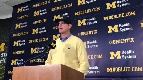 Michigan football's Jim Harbaugh on Karan Higdon, Devin Bush