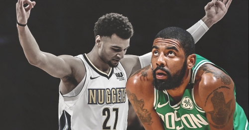 Celtics' Kyrie Irving threw ball in frustration, possibly due to Jamal Murray's shady shot at 50 points