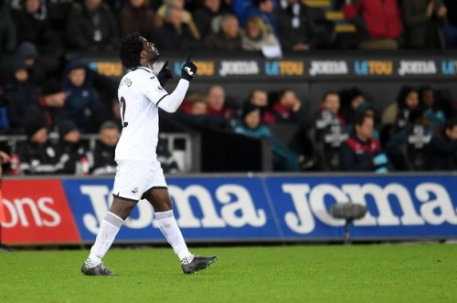 Could Wilfried Bony and Oli McBurnie play together for Swansea City? Graham Potter raises possibility as Ivorian nears return