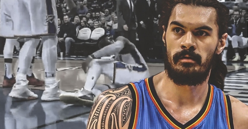 Steven Adams can't hide frustration over Russell Westbrook's injury