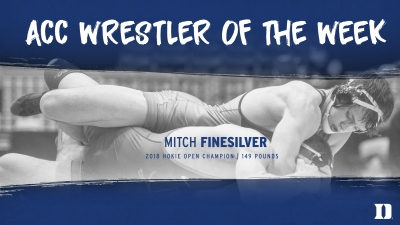 Mitch Finesilver Named ACC Co-Wrestler of the Week
