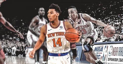 Knicks SG Allonzo Trier reacts to John Starks comparisons