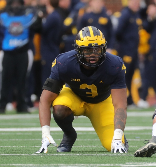 Michigan's Rashan Gary was never shutting down season, glad to be back