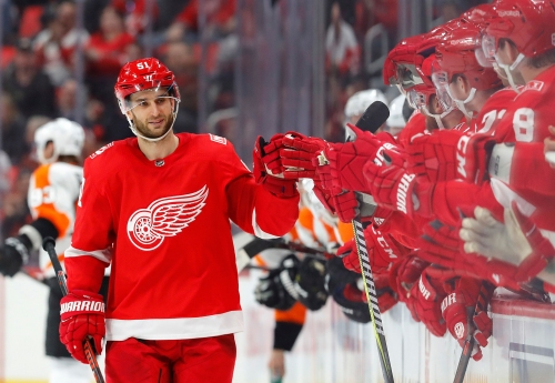 Detroit Red Wings' Frans Nielsen hoping to pass third concussion test