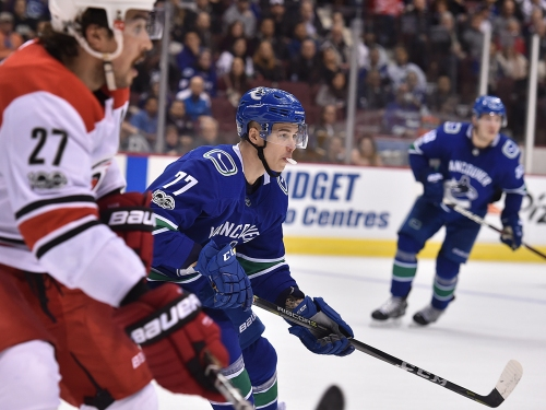 Nikolay Goldobin has been an excellent linemate for Elias Pettersson