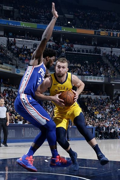 Watch Domantas Sabonis put Joel Embiid on a poster