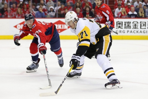Evgeni Malkin ejected from game for...T.J. Oshie trying to hit him?