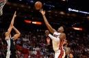 Hassan Whiteside NBA season-high 9 blocks, near triple double helps Heat end 4-year losing streak to Spurs
