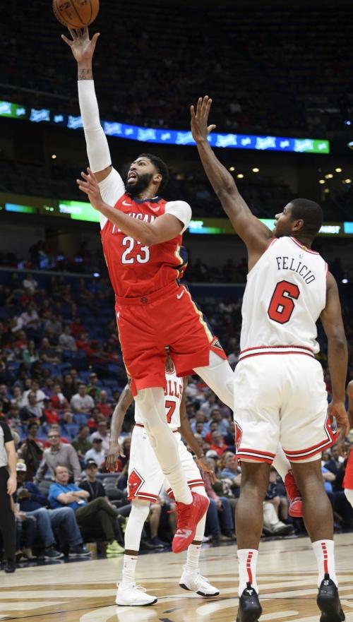 Anthony Davis scores 32 as Pelicans snap six-game losing streak