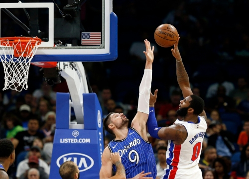 Andre Drummond 'player of the game' for Pistons in topping Magic