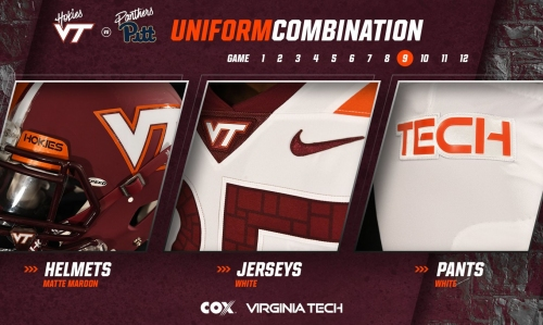 Virginia Tech reveals uniforms for Pittsburgh game