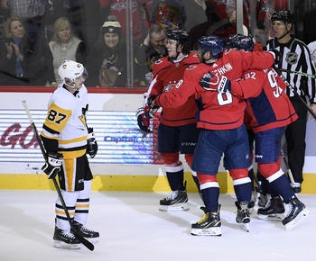 NHL roundup: After shot to head from Malkin, Oshie lifts Caps over Pens
