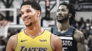 Lakers' Josh Hart reacts to Derrick Rose's huge game for Timberwolves
