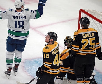 Floodgates open on Bruins in 8-5 loss