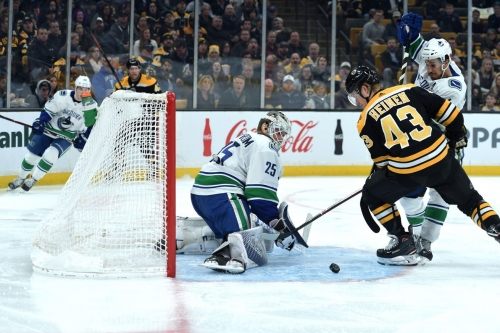 RECAP: Vancouver drops Boston, 8-5; chase Halak in wild second period