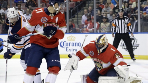 Luongo makes 26 saves as Panthers beat Oilers