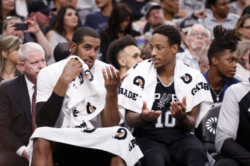 The Spurs are playing LaMarcus Aldridge and DeMar DeRozan together as much as possible