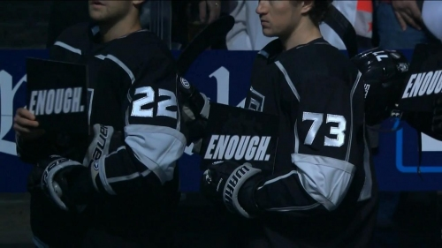 Kings, Wild pay tribute to victims of recent shooting with pre-game ceremony