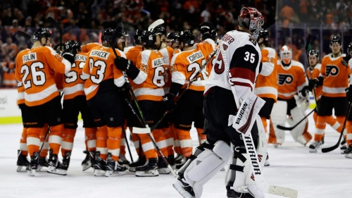 Gostisbehere scores in OT as Flyers storm back to beat Coyotes