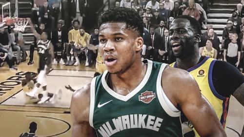 Video: Bucks star Giannis Antetokounmpo's dunk got Draymond Green glitching from the bench