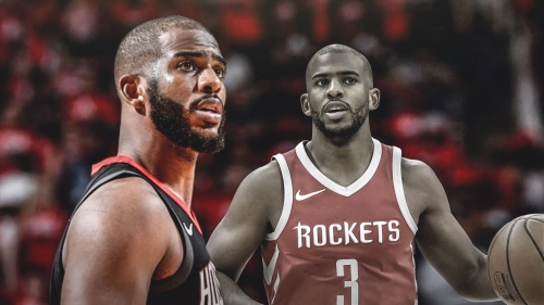 Rockets' Chris Paul refuses to talk about right elbow injury