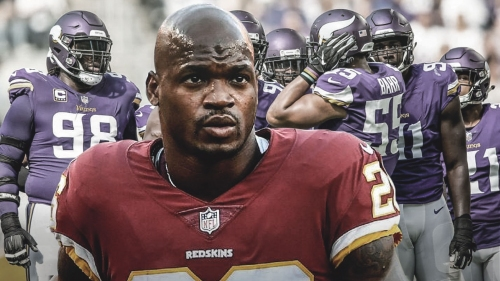 Redskins RB Adrian Peterson wants to knock out Vikings in playoffs