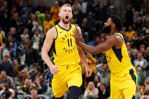 Pacers Domantas Sabonis drawing praise for crafty post moves