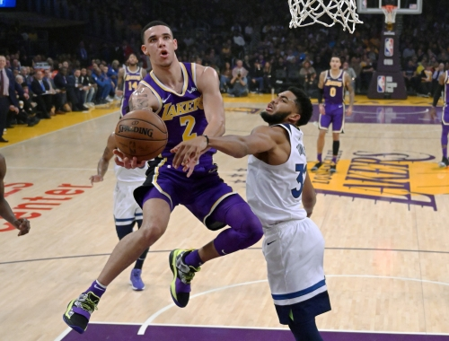 Lonzo Ball 'tweaks' ankle in Lakers practice, status against Sacramento unclear