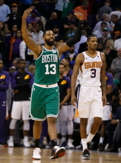 What happened on Marcus Morris' game-tying three in the Suns' loss to the Celtics