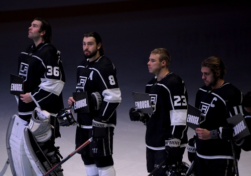 Kings coach Willie Desjardins wonders how we can make the world a safer place
