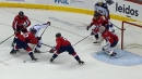Foligno finds Bjorkstrand with a pretty between-the-legs pass