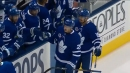 Connor Brown scores after impressive puck movement by Maple Leafs