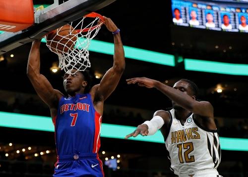Detroit Pistons bury Atlanta Hawks with barrage of 3s in 124-109 win