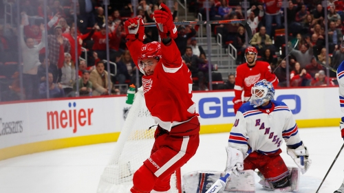 Larkin scores late in overtime as Red Wings rally past Rangers